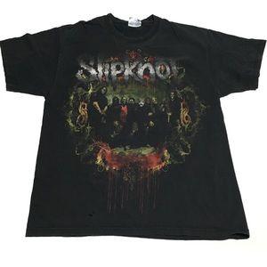 📌 Slipknot Hanes Heavyweight 100%cotton tee Large